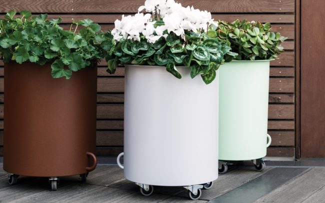 Jennifer Newman Planters, Drum and Box