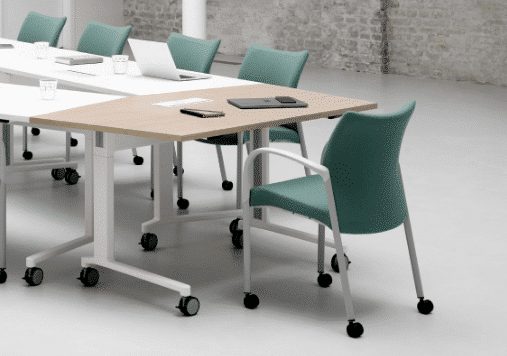 Senator Array tables are no different. A multi-use, flip top table, available in 2 base styles, delivering on any task and suitable for any audience.